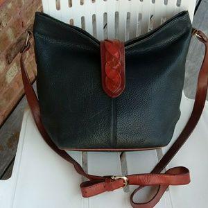 Leather vantage crossbody bag